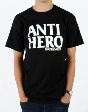 Anti Hero Black Hero T-Shirt - Black/White