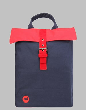 Mi-Pac Tonal Canvas Day Pack - Navy/Red