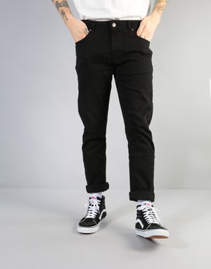 Route One Slim Denim Jeans - Flat Black