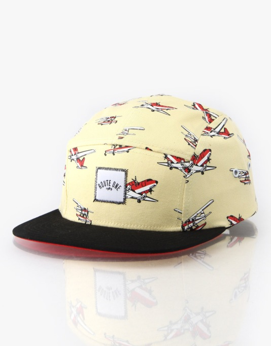 Route One Planes 5 Panel Cap