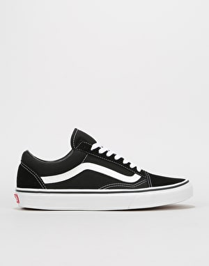Vans Old Skool Skate Shoes - Black/White ...