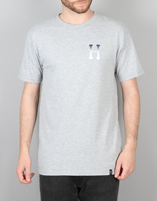 HUF Classic Halftone Gradient T-Shirt - Grey Heather