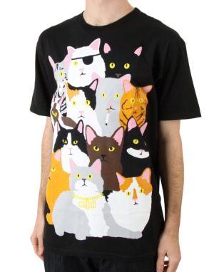 Enjoi Itty Bitty Kitty R1 Exclusive T-Shirt - Black