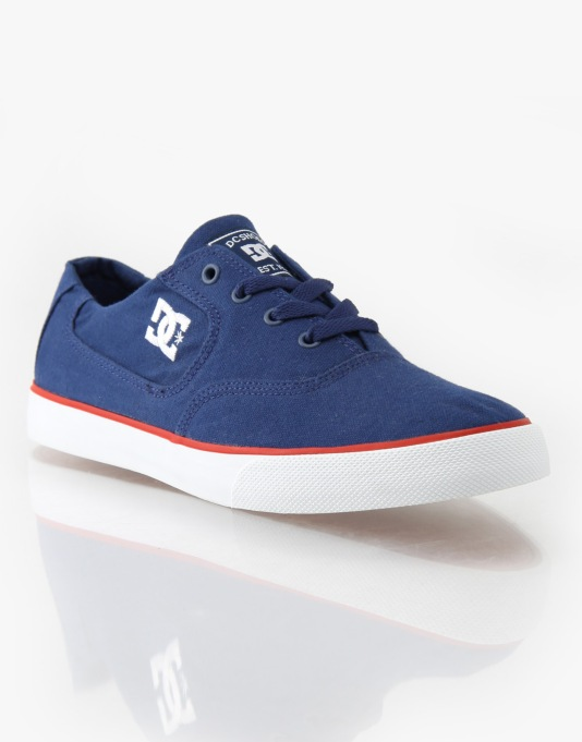 DC Flash TX Skate Shoes - Navy/True Red