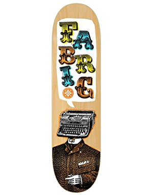 Fabric Typewriter Skateboard Deck - 7.9