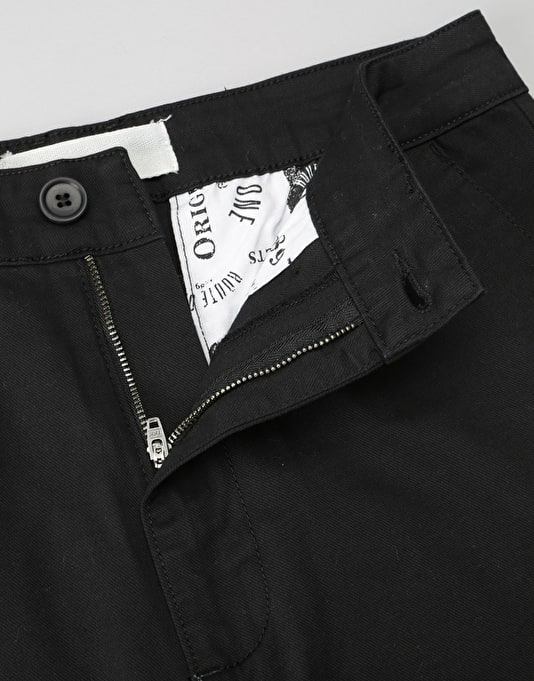 Route One Tapered Fit Chinos - Black