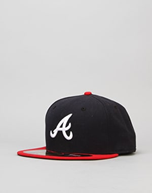 New Era 59Fifty MLB Atlanta Braves Fitted Cap - Navy/Red/White