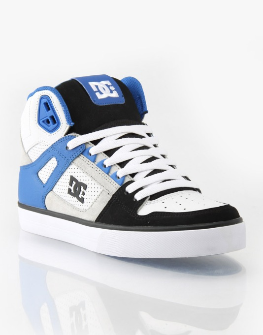 DC Spartan HI WC Skate Shoes - White/Black/Blue