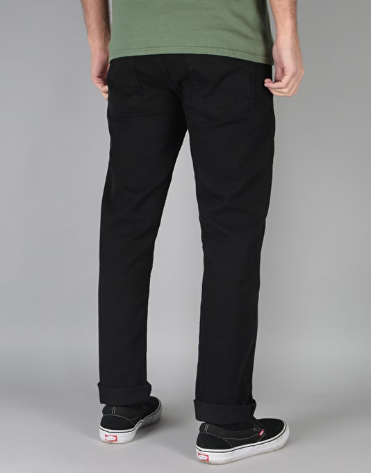 Route One Relaxed Denim Jeans - Flat Black