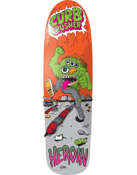 Heroin Curb Crusher Team Deck - 8.5""