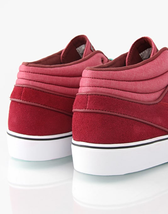 Nike SB Zoom Stefan Janoski Mid Skate Shoes - Team Red/Mint