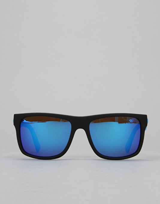 Electric Swingarm Sunglasses - Matte Black/Medium Grey/Blue Chrome