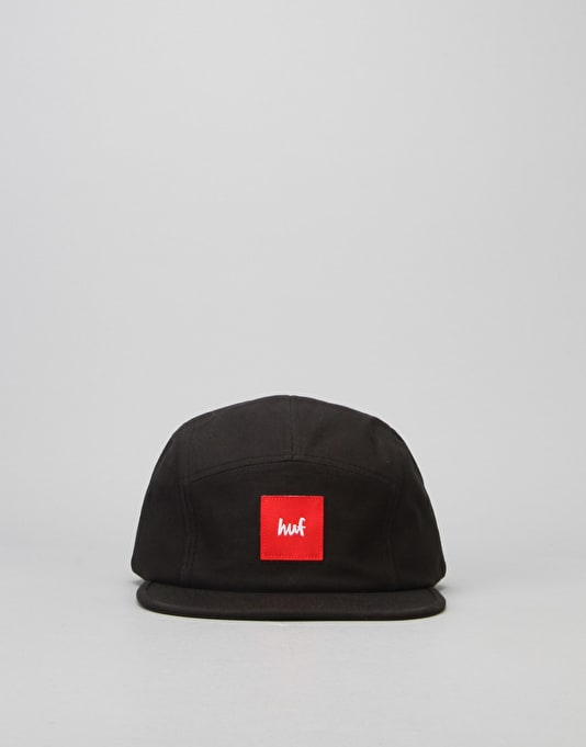 HUF x Chocolate Volley 5 Panel Cap - Black