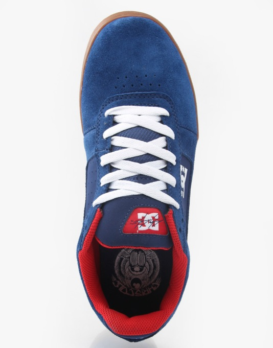 DC Cole Pro Skate Shoes - Navy/Red