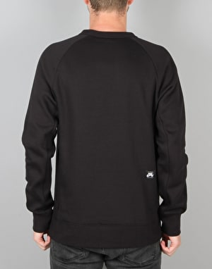 Nike SB Icon Fleece Sweatshirt - Black/White