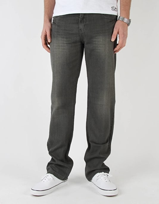 Route One Relaxed Denim Jeans - Black