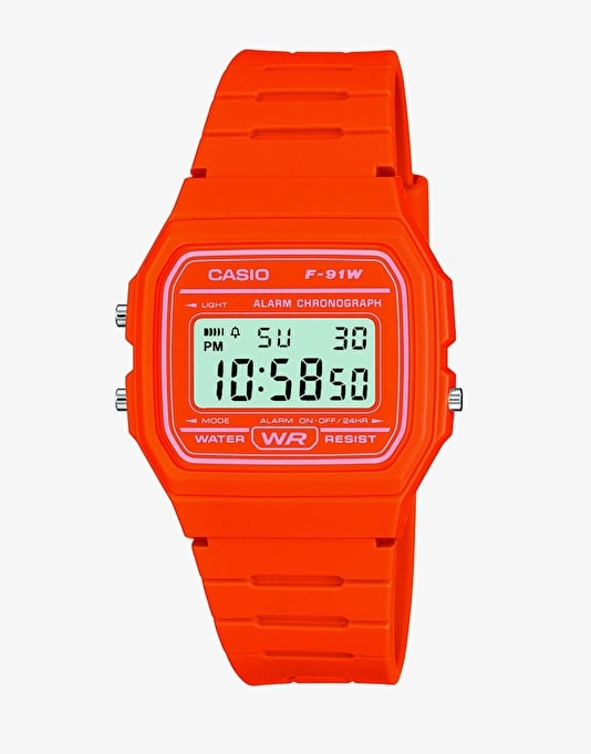 Casio F-91WC-4A2EF Watch - Orange