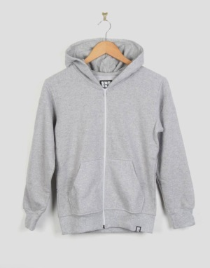 Route One Boys Basic Zip Hoodie - Heather Grey