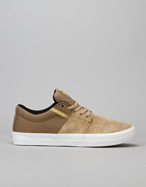 Supra Stacks Vulc II Skate Shoes - Khaki/White
