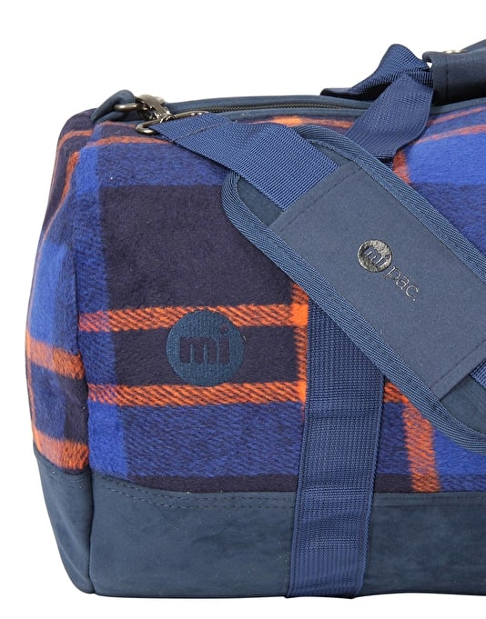 Mi-Pac Picnic Check Duffel Bag - Navy/Orange
