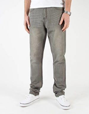 Route One Carrot Fit Denim Jeans - Washed Grey