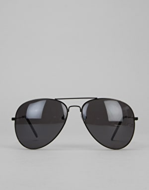 Route One Basics Aviator Sunglasses - Black