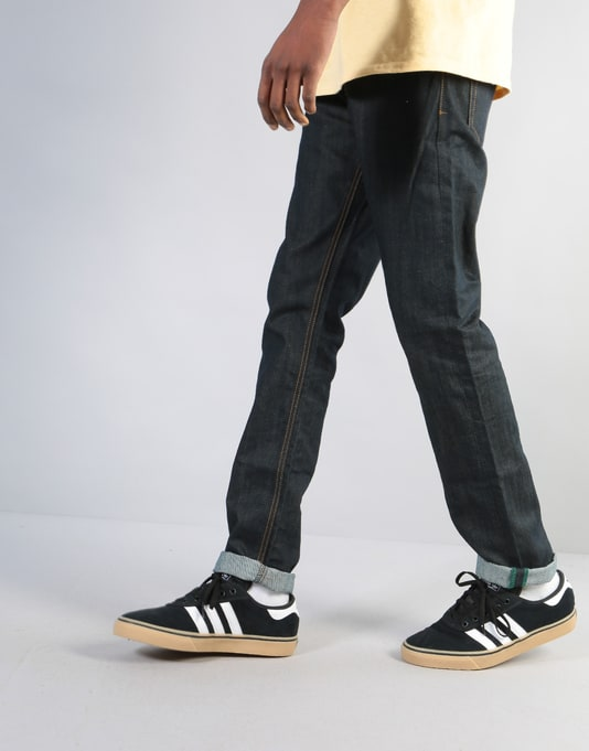Route One Slim Denim Jeans - Rigid Indigo