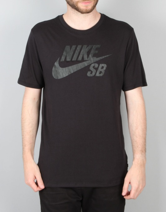 Nike SB Logo T-Shirt - Black/Cool Grey