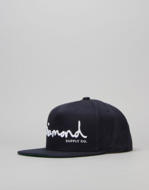 Diamond Supply Co. OG Script Snapback Cap - Navy