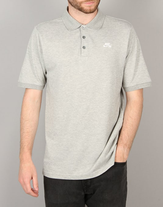 Nike SB Dri-FIT Pique Polo Shirt - Dk Grey/Heather/Black