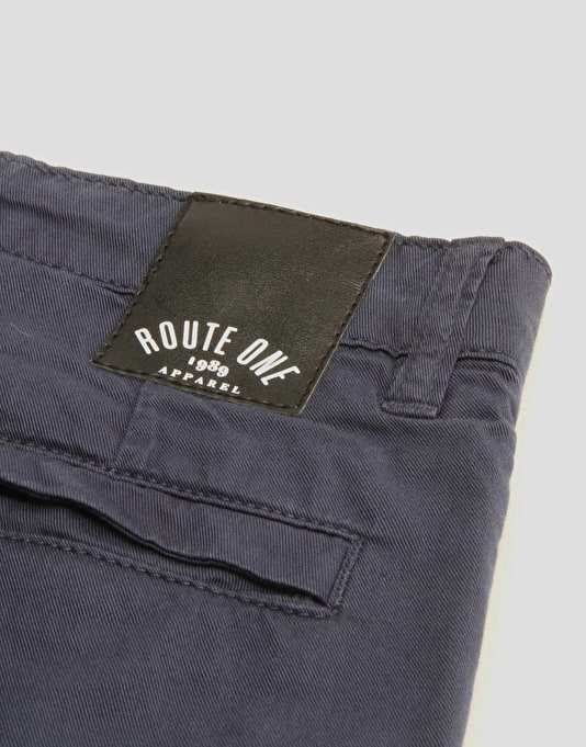 Route One Slim Boys Chinos - Navy