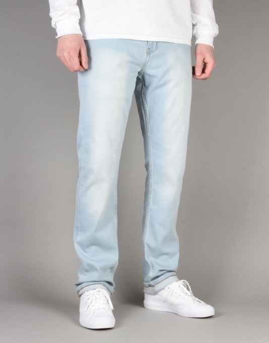 Route One Slim Denim Jeans - Light Wash