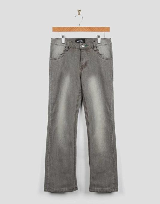 Route One Slim Fit Boys Jeans - Washed Grey