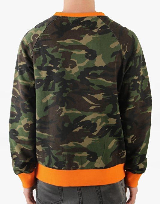 RUE Militaire Sweatshirt - Camo/Orange