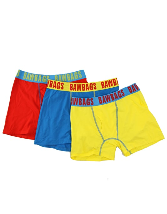 Bawbags Neon 3 Pack Boxer Shorts