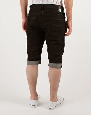 Route One Slim Fit Shorts - Overdye Black