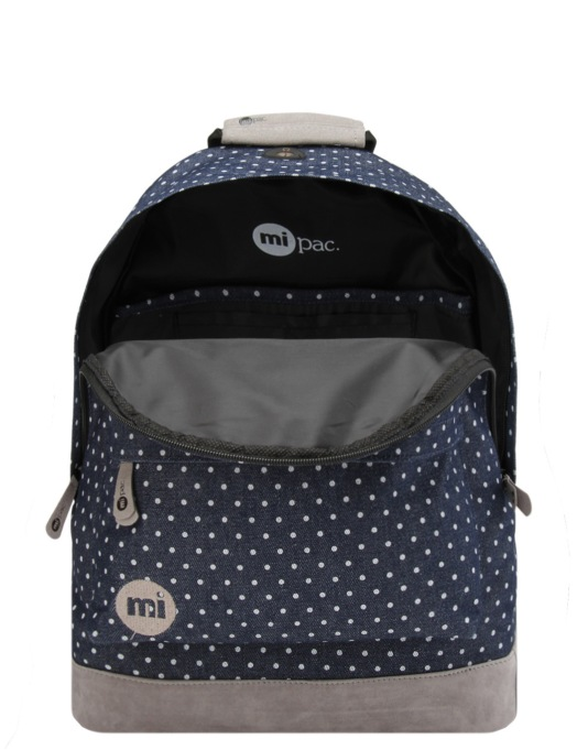 Mi-Pac Denim Spot Backpack - Indigo/White