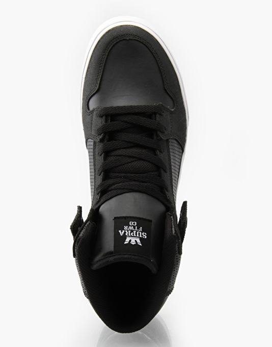 "Supra Gunny ""TUF"" Vaider Skate Shoes - Black/White"