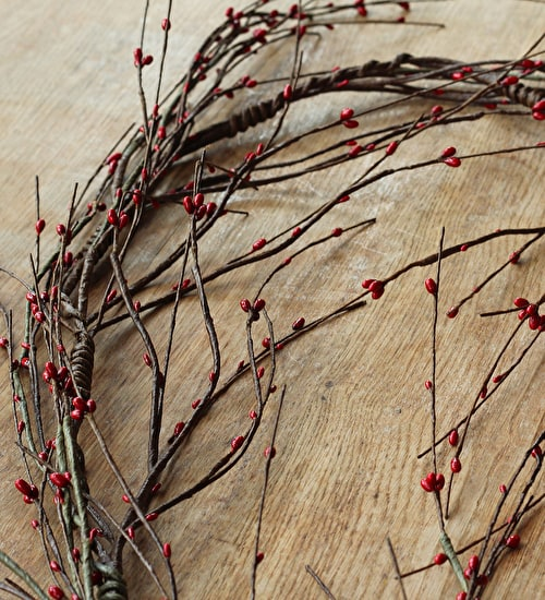 Red Berry Twig Garland