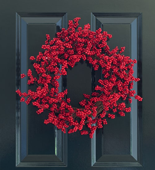 Red Berry Cluster Wreath