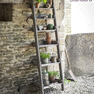 Wooden Shelf Ladder