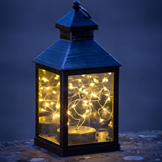Mini Lantern with Wire Lights