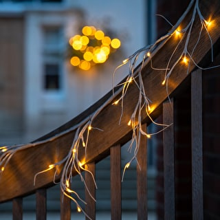 Birch Garland with Lights
