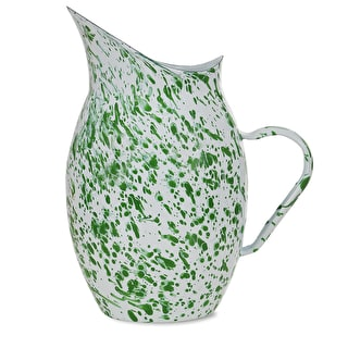Mottled Enamel Water Pitcher