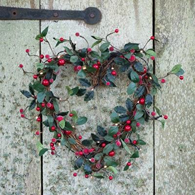 Heart Wreath with Lights