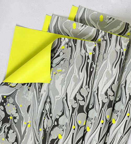 Lime Marble Gift Wrap