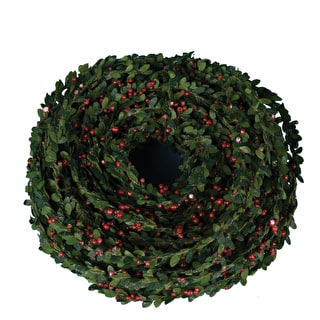 Evergreen and Berry Rope for Wrapping