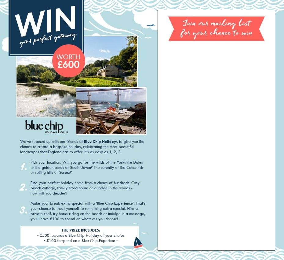 Win a holiday in Cornwall