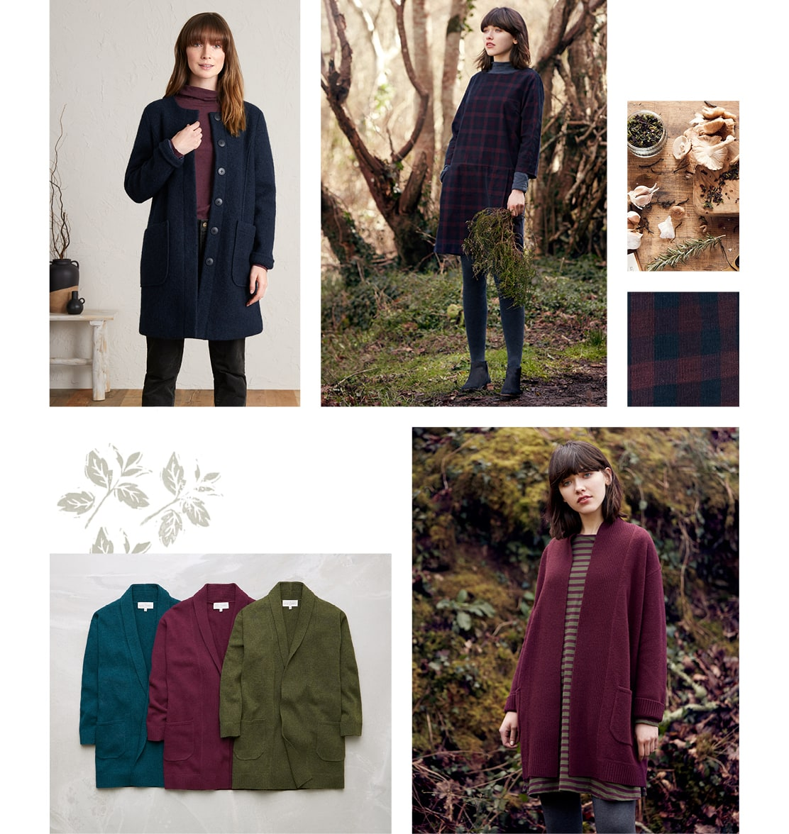 Long cardigans and Knitwear for Autumn Walks