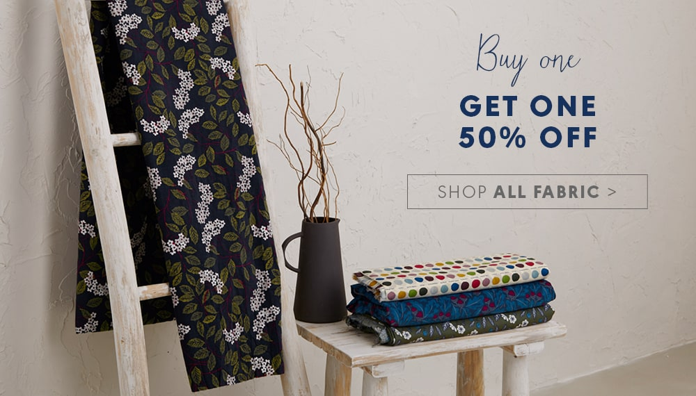 Buy one get one half price! Shop all Fabric